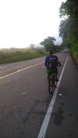 Biking to the Olla.